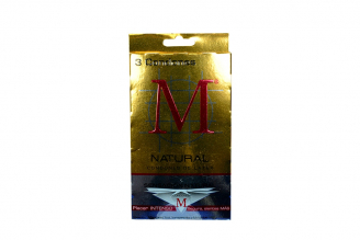Condones M Sensación Natural Caja Con 3 Unidades