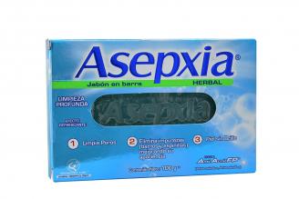 Jabón en Barra Asepxia Herbal Caja Con Barra Con 100 g