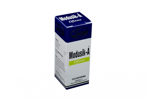 Modusik- A Ofteno Solución Oftalmica Caja Con Frasco Gotero Con 5 mL Rx