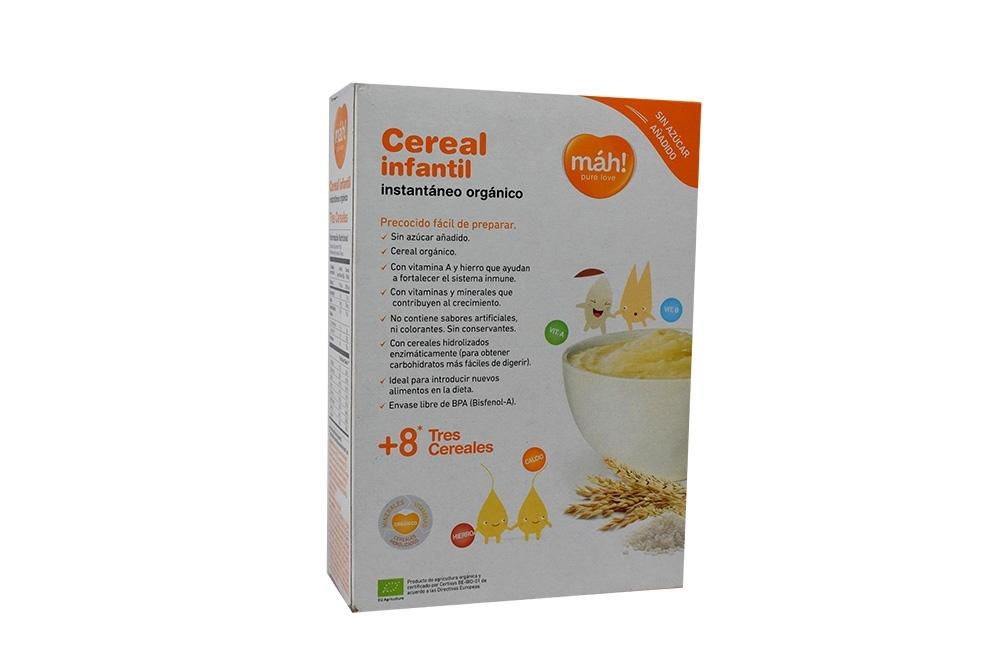 Cereal Infantil Instantáneo Orgánico Máh! Caja Con Bolsa Con 210 g – Tres Cereales