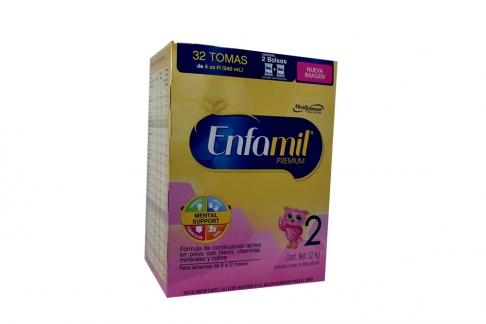 Enfamil Premium 2 Leche En Polvo Caja 1200 g Con 2 Bolsas de 600 g Cada Una