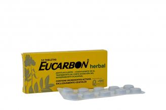 Eucarbón Herbal Caja Con 10 Tabletas