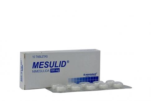 Mesulid 100 mg Caja Con 10 Tabletas Rx