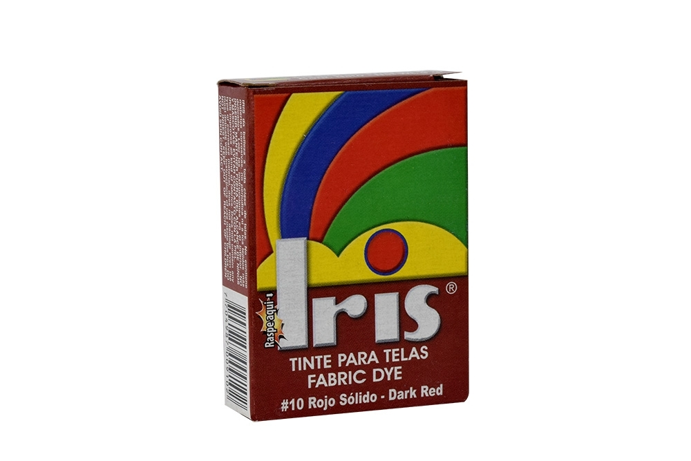 Iris Tinte Para Telas Caja Con Bolsa Con 9 g – Tono Número 10 Rojo Sólido