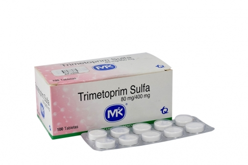 Trimetoprim Sulfa 80 / 400 mg Caja x 100 Tabletas Rx2