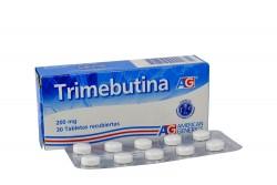 Trimebutina AG 200 mg Caja Con 30 Tabletas Recubiertas Rx