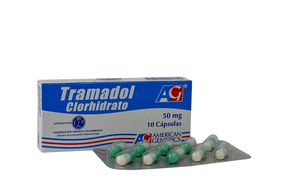 Tramadol Clorhidrato 50 mg Caja x 10 Cápsulas Rx
