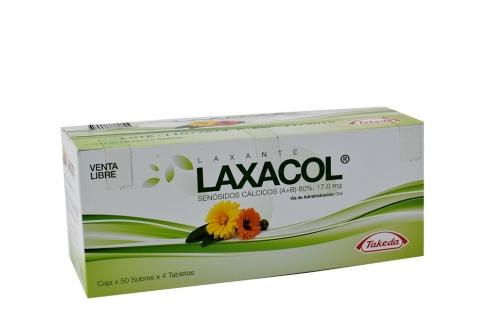 Laxacol 17.0 mg Caja Con 50 Sobres