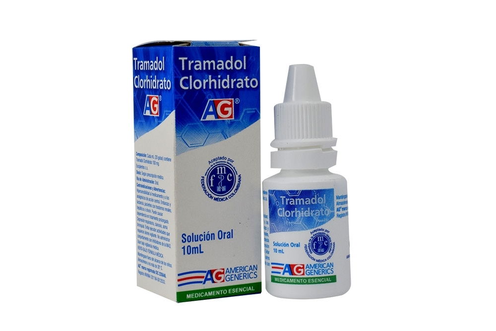 Tramadol Clorhidrato Solución Oral Caja Con Frasco Con 10 mL Rx