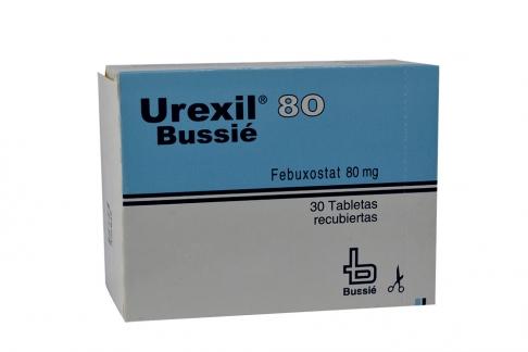Urexil 80 mg Caja x 30 Tabletas Recubiertas RX