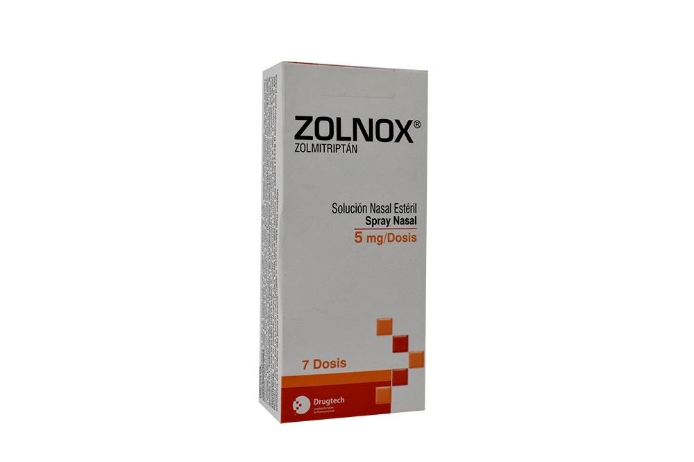 Zolnox 5 mg Solución Nasal Esteril Caja Con Spray Con 7 Dosis Rx