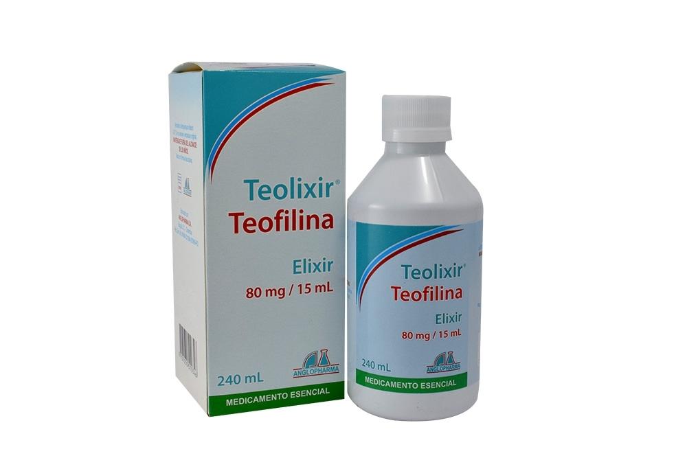 Teolixir Elixir 80 mg / 15 mL Caja Con Frasco Con 240 mL Rx