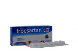 Irbesartán 150 mg AG Caja Con 14 Tabletas Rx4