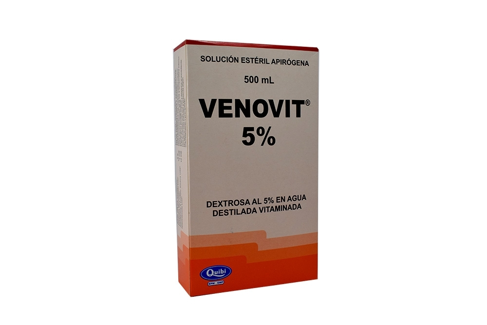 Venovit 5% Solución Estéril Apirógena Caja Con Bolsa En PVC Con 500 mL Rx