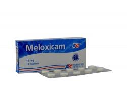Meloxicam 15 mg Caja Con 10 Tabletas Rx