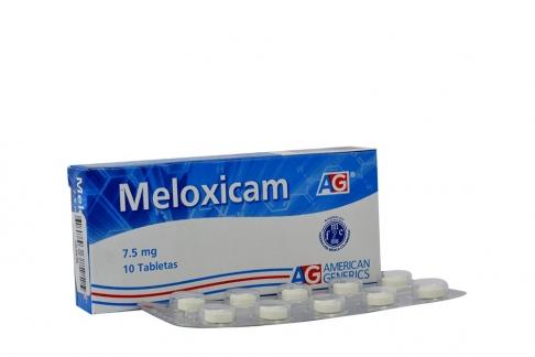 Meloxicam 7.5 mg Caja Con 10 Tabletas Rx