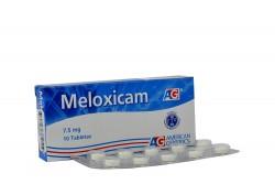 Meloxicam 7.5 mg AG Caja Con 10 Tabletas Rx