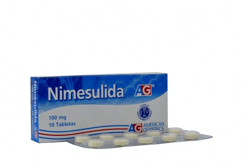 Nimesulida 100 mg Caja x 10 Tabletas Rx