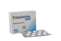 Trimebutina 300 mg Caja X 30 Tabletas Recubiertas Rx