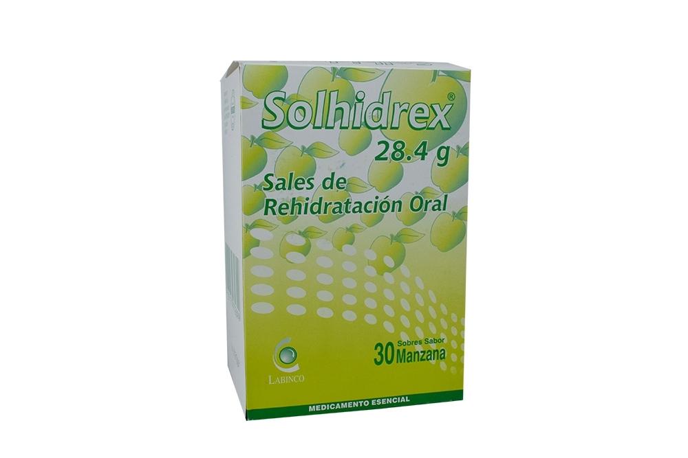 Solhidrex 28.4 g Caja Con 30 Sobres Sabor Manzana Rx