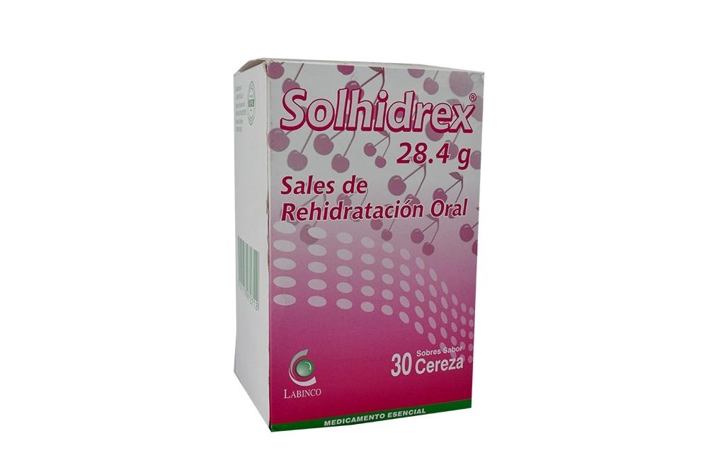 Solhidrex 28.4 g Caja Con 30 Sobres Sabor Cereza Rx