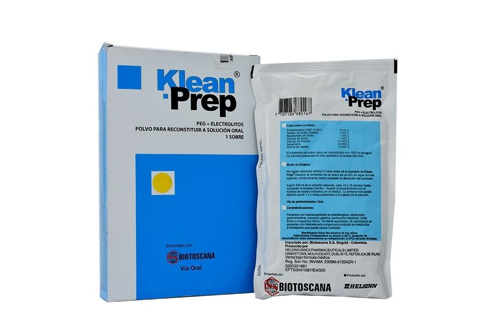 Klean Prep Polvo Caja Con 1 Sobre RX