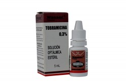 Tobramicina Suspensión Oftalmica Esteril Caja Con Frasco Con 5 mL Rx2