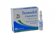 Tramadol 100 mg Caja X 10 Ampollas Rx