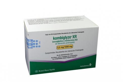 Kombiglyze XR 2.5 / 1000 mg Caja Con 56 Comprimidos Recubiertos Rx4