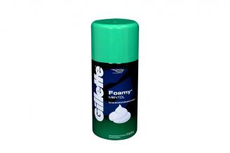 Espuma De Afeitar Gillette Foamy Mentol Frasco Con 312 g