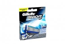 Repuesto Máquina Para Afeitar Gillette Mach 3 Turbo Caja Con 4 Cartuchos