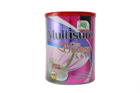 Multisure Con Omega 3,6,y 9 Sabor a Fresa Tarro x 400 g