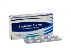 Zopiclona 7.5 mg Caja x 30 Tabletas Recubiertas Rx