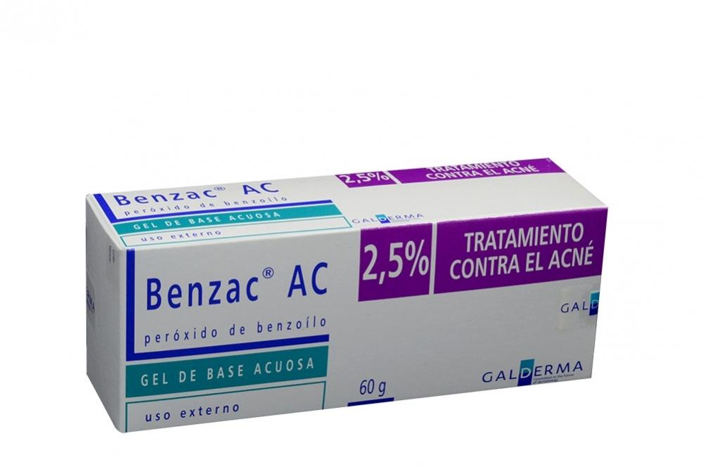 Benzac Ac 2.5% Gel Caja Con Tubo Con 60 g