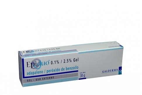 Epiduo 0.1 % / 2.5 % Gel Caja Con Tubo Con 30 g Rx
