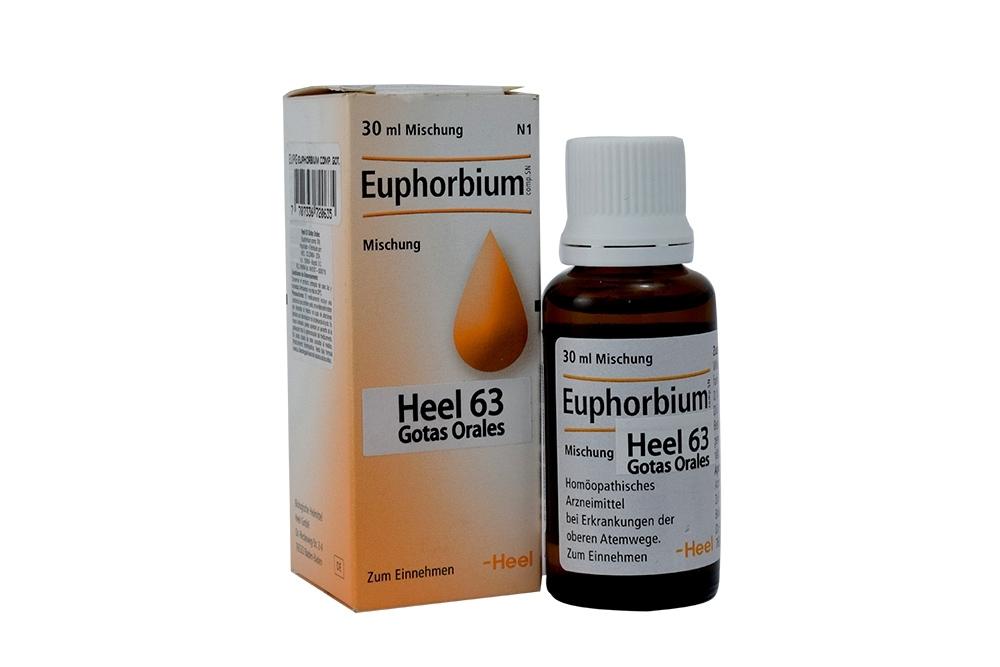 Sinusin Euphorbium Compositum Heel 63 Gotas Orales Frasco Con 30 mL Rx