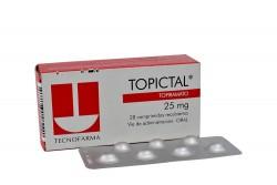 Topictal 25 mg Caja Con 28 Comprimidos Recubiertos Rx4