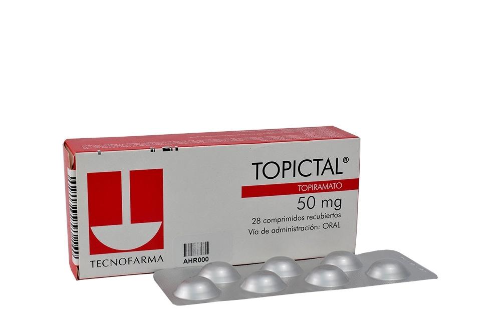 Topictal 50 mg Caja Con 28 Comprimidos Recubiertos Rx4