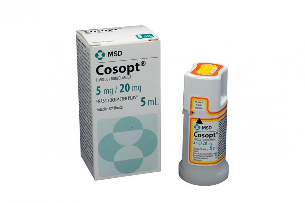 Cosopt 5 / 20 mg Gotas Caja Con Frasco Con 5 mL Rx4