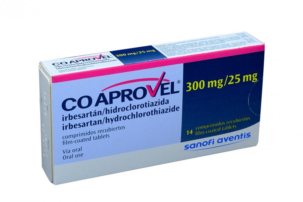 Coaprovel 300 / 25 mg Caja Con 14 Comprimidos Recubiertos Rx