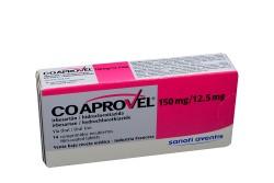 Coaprovel 150 / 12.5 mg Caja Con 14 Comprimidos Recubiertos Rx