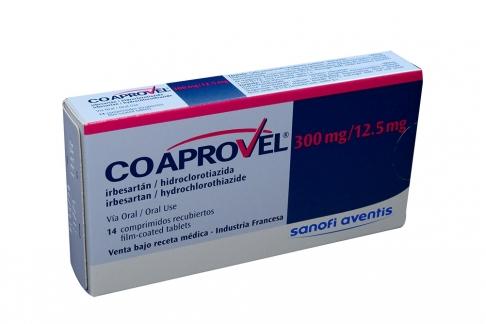 Coaprovel 300 / 12.5 mg Caja Con  14 Comprimidos Recubiertos Rx