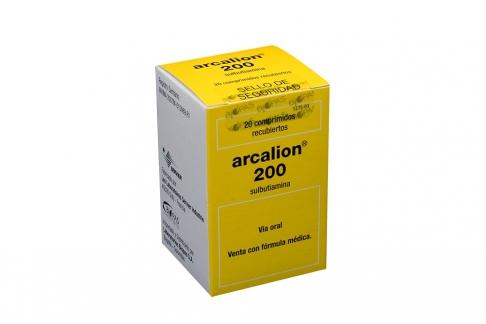 Arcalion 200 mg caja Con 20 Tabletas Recubiertas Rx4