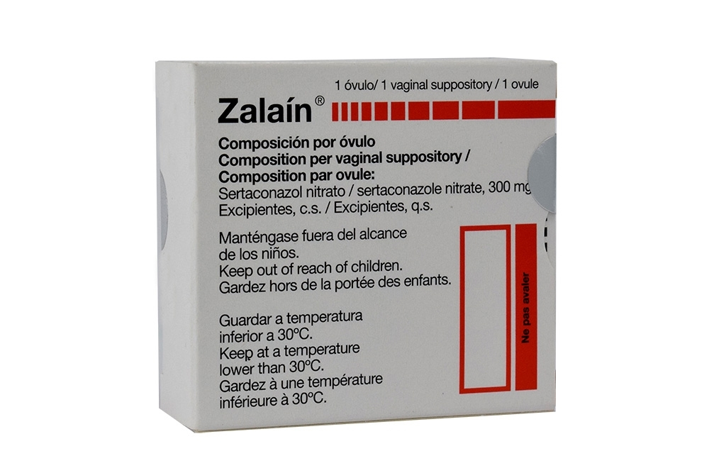 Zalaín 300 mg Caja Con 1 Óvulo Vaginal RX