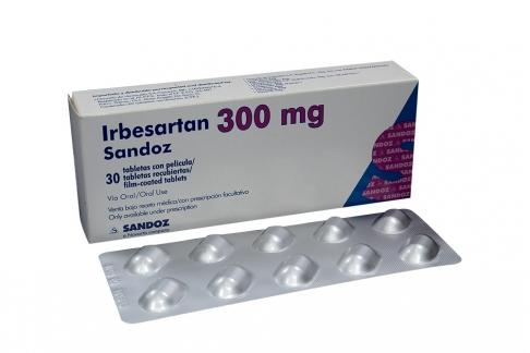 Irbesartan 300 mg Caja Con 30 Tabletas Rx4