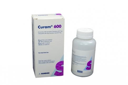 Curam 600 / 42.9 mg Caja Con Frasco Con 125 mL Rx2