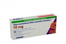Atorvastatina 10 mg Caja Con 10 Comprimidos Con Cubierta Pelicular Rx