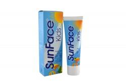 SunFace Kids SPF 50 Caja Con Tubo X 75 g