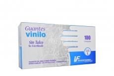 Guante Examen Vinilo O Transparente Sin Latex Talla L Caja x 100 Unidades