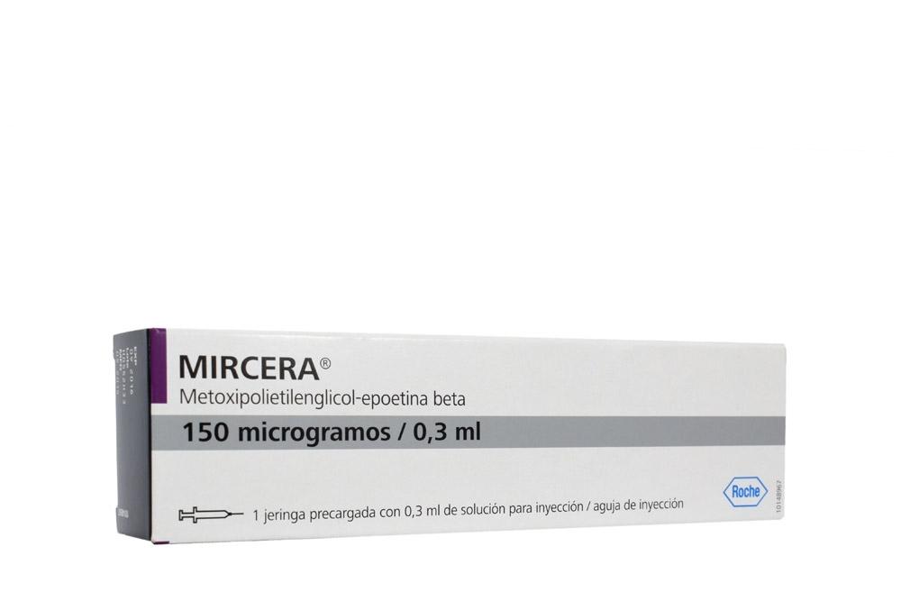 Mircera 150 mcg Caja Una Jeringa Precargada Solución Inyectable RX Rx4 Rx3